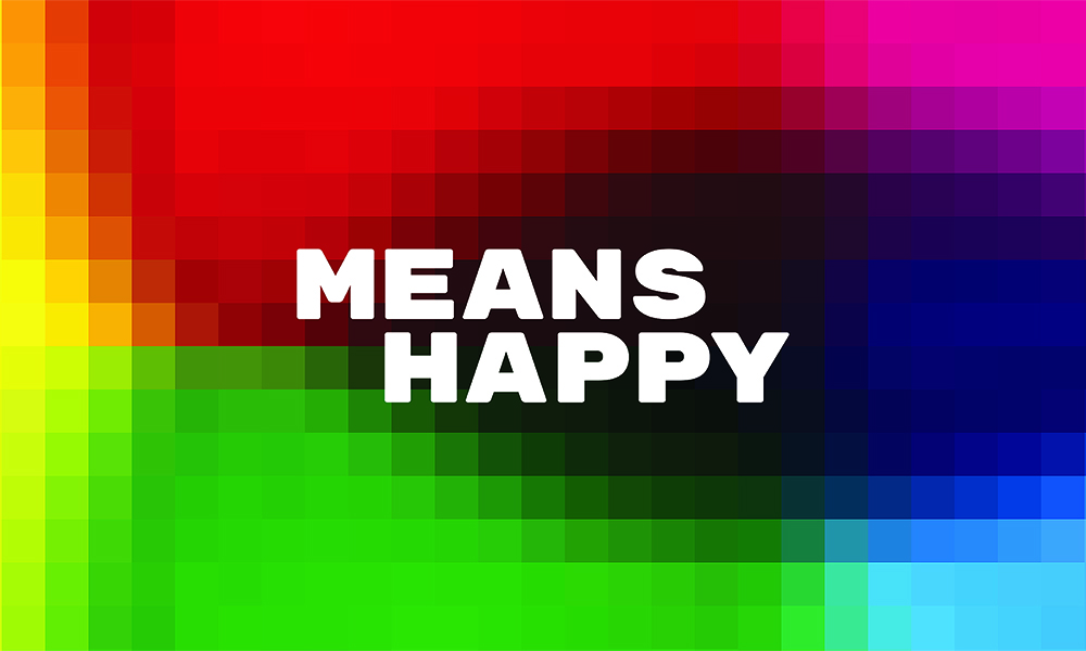 means happy